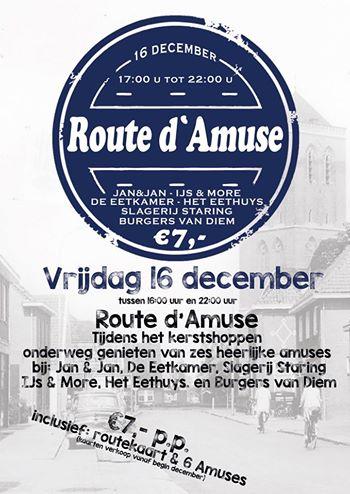Route d\'amuse – CAFE UNIEK – DE EETKAMER DIDAM